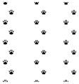 Black footprints of dogs seamless track - vector image