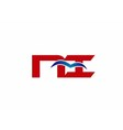 NI company linked letter logo vector image