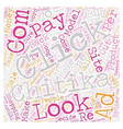 Chitika What Went Wrong text background wordcloud vector image