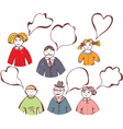 family bubbles vector image vector image