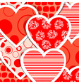 valentine heart pattern vector image vector image
