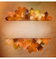 Autumn card of colored leafs EPS 10 vector image