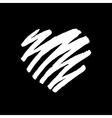 Handdrawn heart vector image