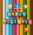 Happy Holidays Retro Happy Holidays Happy Holiday vector image