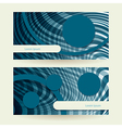 horizontal abstract blue elipse vector image
