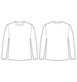Longsleeves shirt vector image