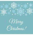 Merry Christmas greetings card vector image