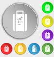 travel luggage suitcase icon sign Symbol on eight vector image
