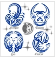 Zodiac signs and icons vector image