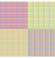 Checkered Seamless Set vector image vector image