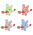 Jack rabbit cartoon easter vector image