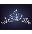 Tiara crown womens wedding made from diamonds vector image