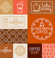 Set of design elements for coffee houses and shops vector