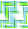 Seamless Checkered Green Blue Color Pattern vector image vector image