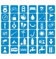 Set of tourist ecvipment icons vector image