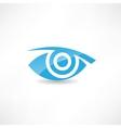 abstract eye icon vector image