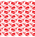 Abstract red pattern vector image