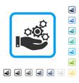 mechanics service framed icon vector image