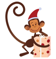 Merry Christmas monkey vector image