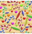 Seamless candies background vector image