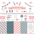 Set of elements for wedding design vector image
