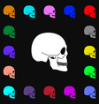 Skull icon sign Lots of colorful symbols for your vector image