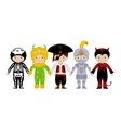 Group of boys in fancy dresses vector image