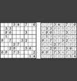 sudoku game vector image