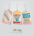 vintage Pricing Tags vector image
