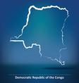 Doodle Map of Democratic Republic of the Congo vector image vector image