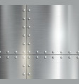 Background of the metal plates with riveted vector image