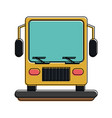 bus frontview icon image vector image