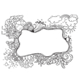 doodle frame vector image