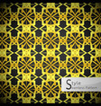 lotus floral mesh gold vintage geometric seamless vector image