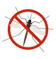 mosquito stop sign icon vector image