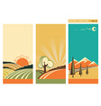 set of banners nature landscape collection vector image