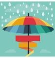 umbrella and rain drops in rainbow colors vector image