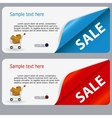 Sale banner with place for your text vector image