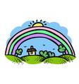 cartoon image of rainbow icon vector image