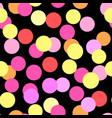 polka dots seamless patterntextile ink brush vector image