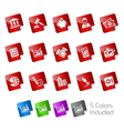Business Finance Stickers vector image vector image