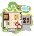 Floor plan of house vector image vector image