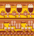 beer striped background vector image vector image
