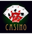 Luxury casino an gambling icon vector image