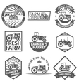 Farm labels with tractor vector image
