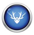 Deers antlers icon vector image