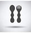 Baby spoon and fork icon vector image