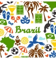 Brazil background with stylized objects and vector image