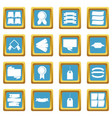 different colorful labels icons azure vector image
