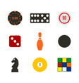 game icons in a flat style vector image